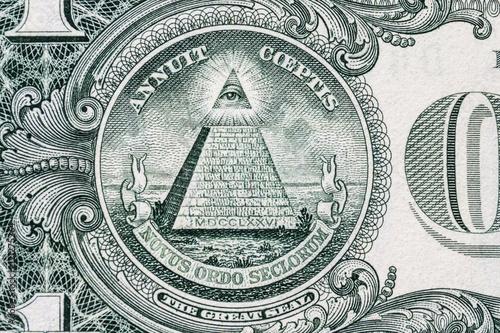 Fotografie, Obraz  all-seeing eye on the dollar
