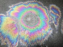 Oil Spill On Asphalt