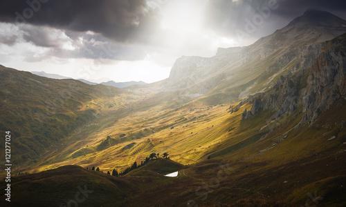 Photo Вид на горное озеро