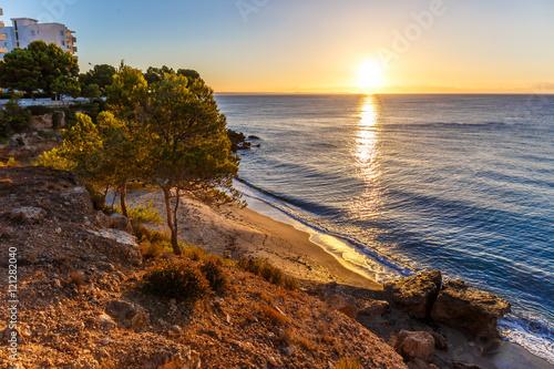 Foto op Aluminium Strand Morning at seaside, Spain