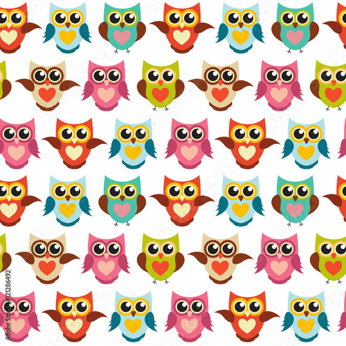 wektorowa-ilustracja-kolorowe-sowy