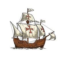 Columbus Day Poster. Sailing S...