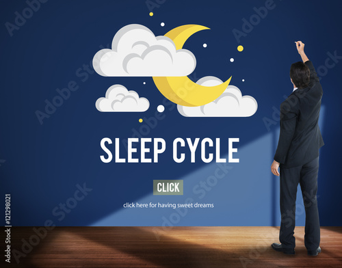 Photo  Sleep Cycle Awake REM Rapid Eye Movement Dream Relaxation Concep