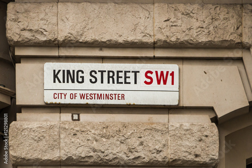 Photo  Street name plate, London