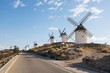 Road with Windmills in Consuegra
