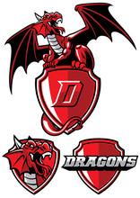 Dragon Mascot Set