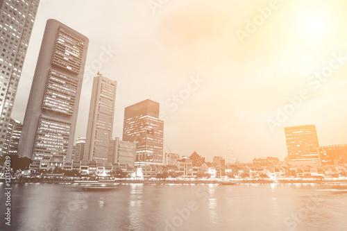 Photo  city skyline
