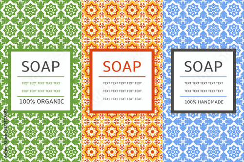 Soap Package Patterns Seamless Vector Vector Set Of Design Elements