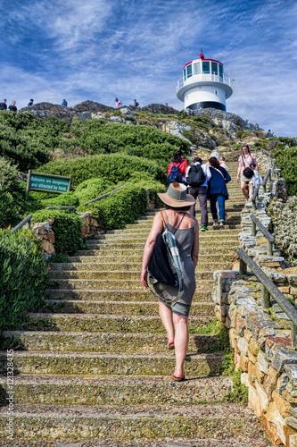 Fotografia, Obraz  Cape Point, Aufstieg zum Leuchtturm
