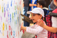 Hand Prints, Wall Painting Activity That Child.