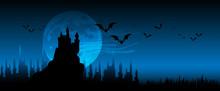 Halloween, Alberi, Zucche, Pau...