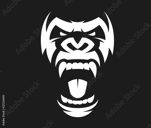 Photo  Angry gorilla symbol