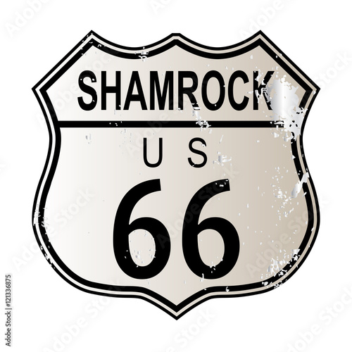 Papiers peints Route 66 Shamrock Route 66
