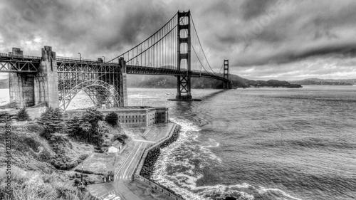 Rainy day at Golden Gate Bridge