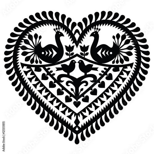 wzor-polskiej-sztuki-ludowej-na-walentynki-wycinanki-kurpiowskie