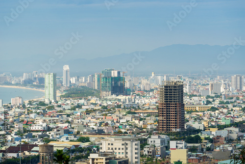 Cadres-photo bureau Milan High view of Da Nang city inVietnam
