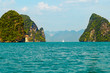 Island in the deep sea at Krabi province