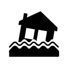 House Flood Icon Illustration