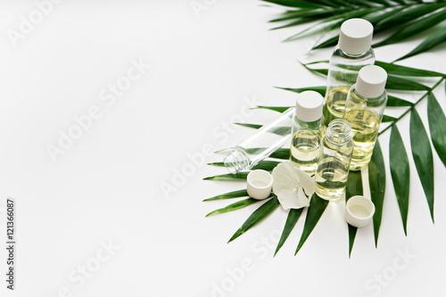 Obraz na plátně  aromatherapy theme , handmade cosmetic. space for text