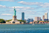 Fototapeta Nowy Jork - The Statue of Liberty on the New York Harbor