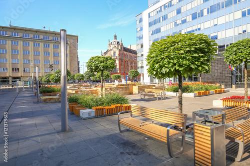 Katowice, plac w centrum miasta