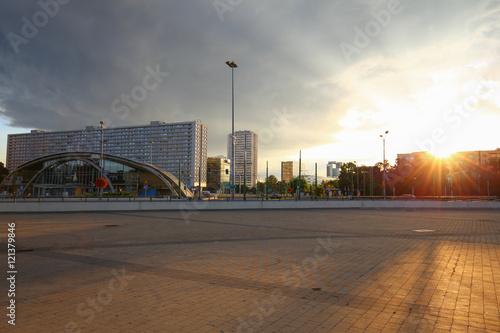 Sunset in Katowice city