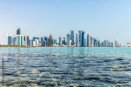 Fotografia, Obraz  Doha Business District Skyline