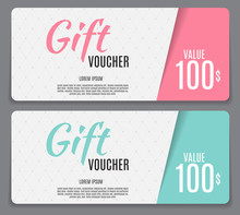 Gift Voucher Template Vector I...