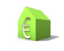 Huis Met Euro Teken