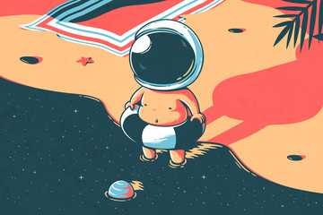 Naklejka Space summer