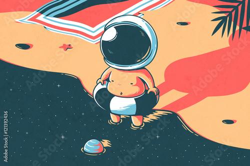 Foto-Vinylboden - Space summer (von Elia Colombo)