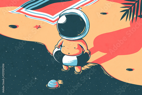 Foto Rollo Basic - Space summer (von Elia Colombo)