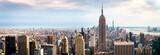 Fototapeta Nowy York - view on downtown of Manhattan, New York City