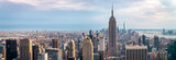 Fototapeta Nowy York - view on downtown of Manhattan, New York City
