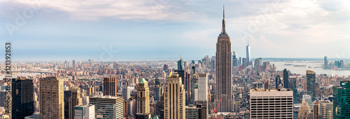 Foto op Plexiglas New York view on downtown of Manhattan, New York City
