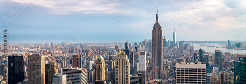 Photo sur Aluminium New York view on downtown of Manhattan, New York City