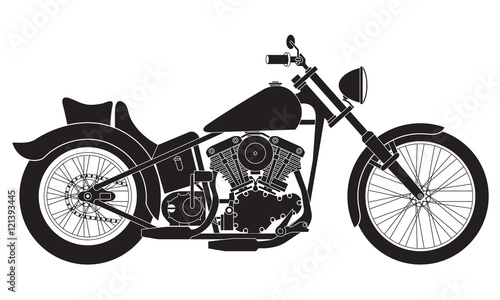 Motorcycle icon or sign Wallpaper Mural