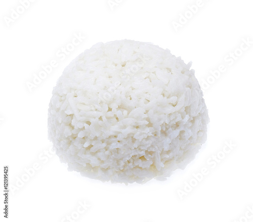 Fotografie, Obraz  cooked rice on white background