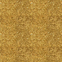 Seamless Pattern Of Golden Mos...