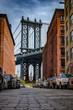 View of the Manhattan Bridge and the Empire State Building