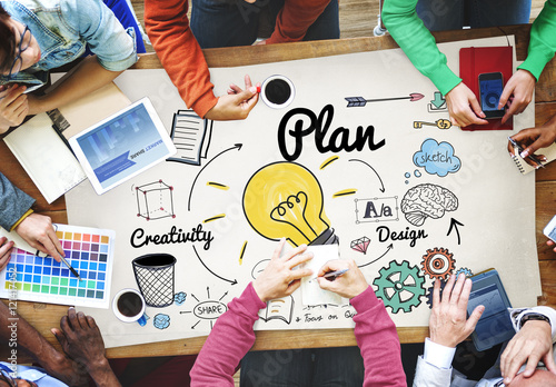 Valokuva Plan Creativity Strategy Review Concept