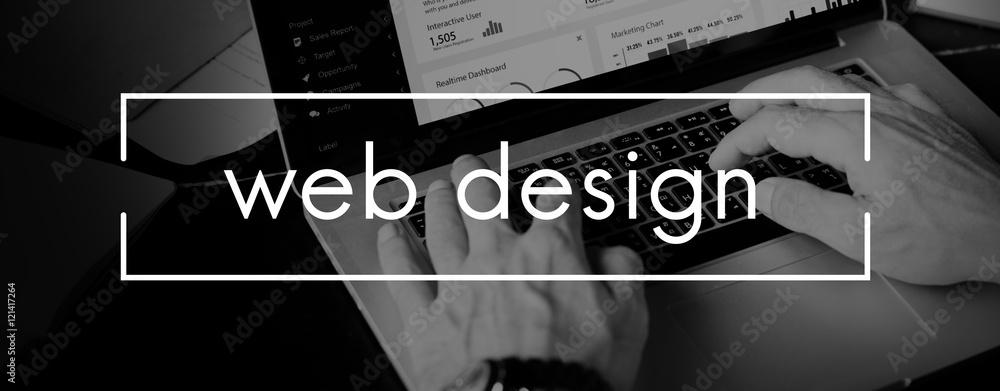 Fototapeta Web Design Homepage Internet layout Software Concept