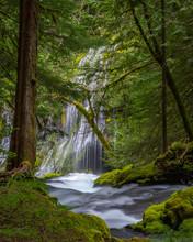 Upper And Lower Panther Creek Falls, Washington