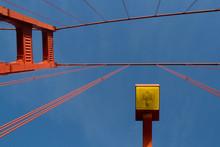 Golden Gate Bridge Abstract Street Light