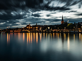 Szczecin by night - long exposure