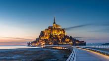 Mont Saint Michel Illuminated ...