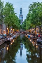Amsterdam City, Illuminated Bu...