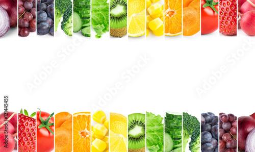 Deurstickers Keuken Fresh color fruits and vegetables