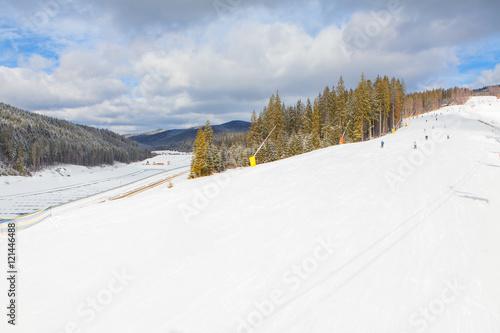 Fotobehang Wintersporten panorama of ski resort