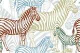 Bezszwowy wzór z Afrykańską zwierzę zebrą. - 121448480